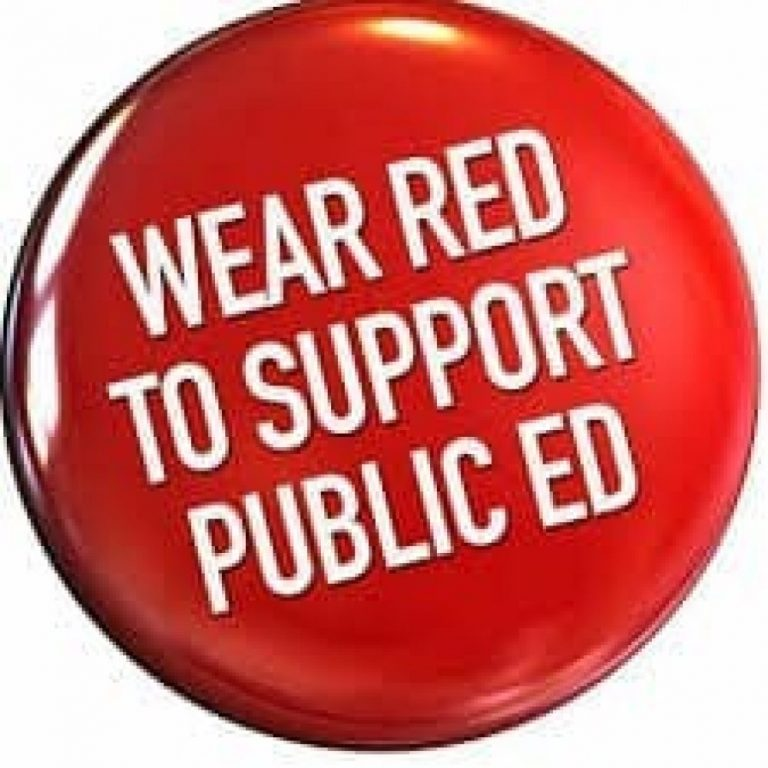 Wear RED to support public ed